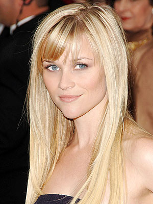 Reese Witherspoon Straight Hairstyle Long, Lash tickling bangs add