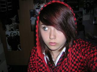 girls hairstyle with bangs. emo girl bangs hair