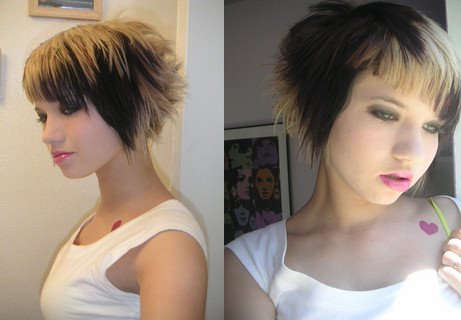 ShorFunky Hairstyle. short summer funky haircuts for gals. - hair color: