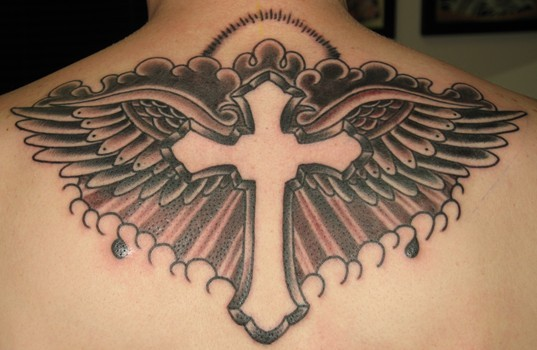 Tattoo Tribal Cross Designs With Wings. Tattoo