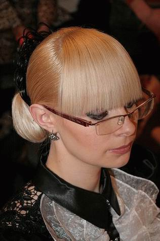 side swept bangs hairstyle. a side-swept fringe. blunt