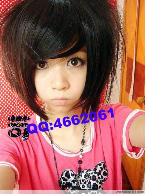 bob hairstyle with bangs. girls cute asian ob hairstyle