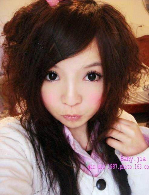 emo-girls-hairstyle cute hairstyle with bangs and long braids -cute asian