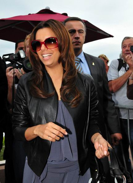 celebrity Eva Longoria Parker Long curly Hairstyle