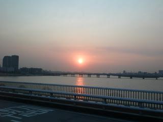 A beautiful Seoul sunset