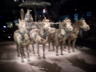 An exhibit of the Terra Cotta warriors