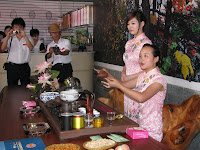 A tea ceremony at the agricultural base