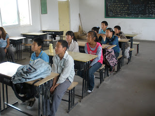 Students in the Children's Village