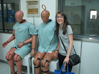 A student with test dummies