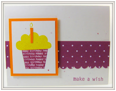 bold and bright birthday card with assorted designer pa