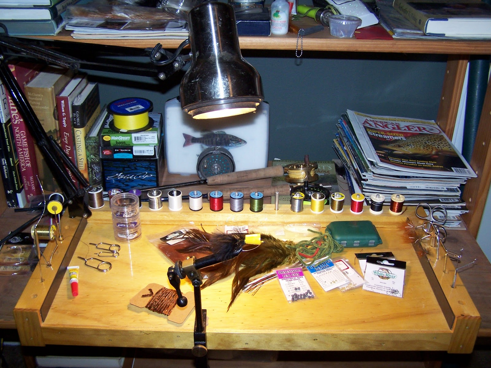 Fly Tying Bench Ideas Part - 29: Click On Photos To Enlarge... Please Excuse My Cheap Vise.