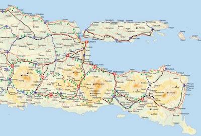 Peta Jalur Lebaran Mudik 2014 Jawa Barat