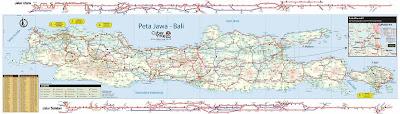 Peta Jalur Lebaran Mudik Jawa Gabungan 2014 Untuk Wilayah Indonesia