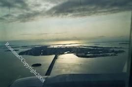 Veduta aerea su Venezia