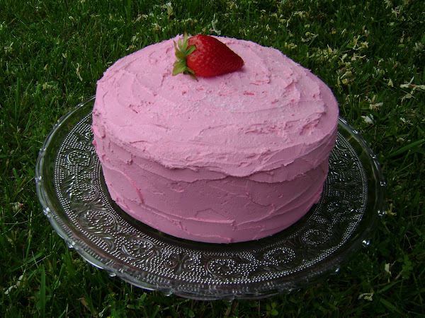 Faux Strawberry Cake by: JillzWhimzy