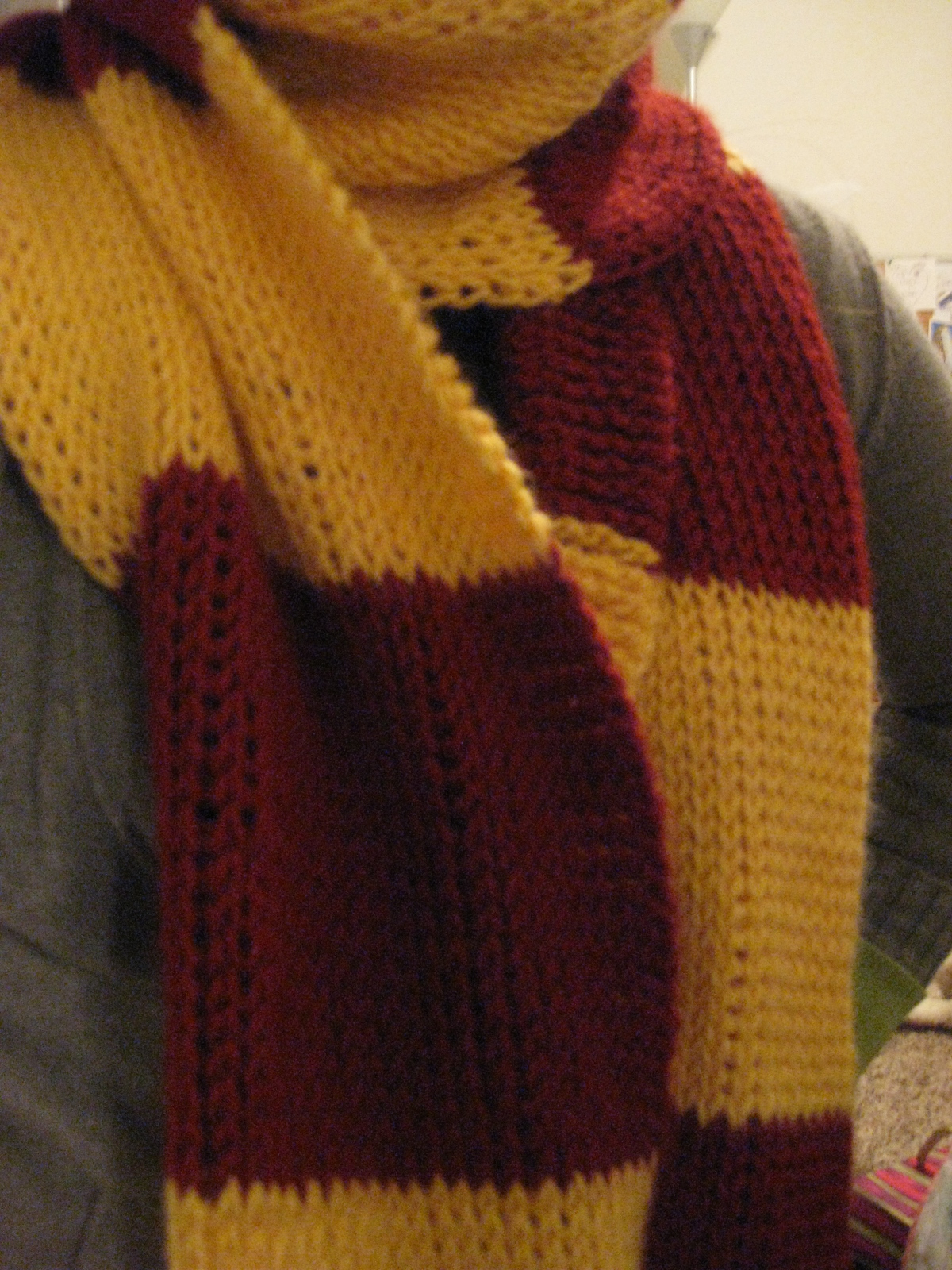 Knitting Pattern For Gryffindor Scarf : Live. Love. Laugh.: Harry Potter Scarf!