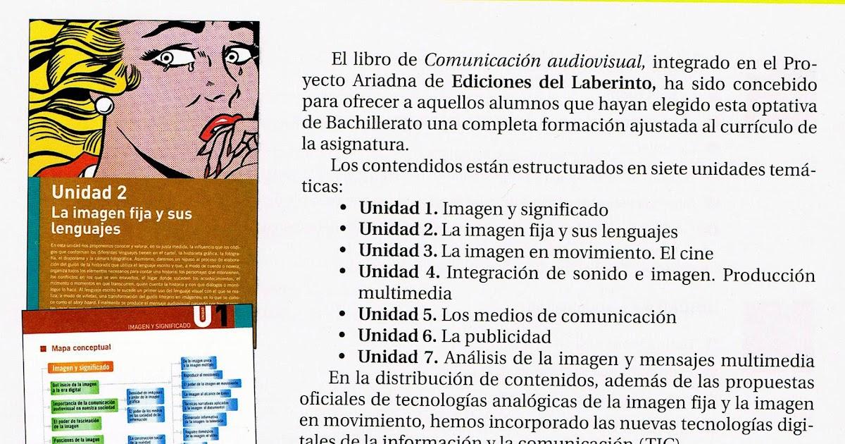 Cultura Audiovisual - Bachillerato de Artes : Libros de