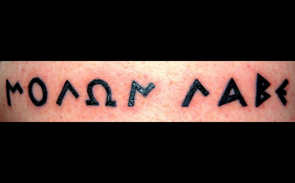 I'd been planning a Molon Labe tat for a while,
