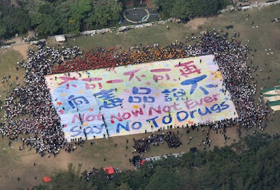 Chinese students, finger painting, Guinness World Record