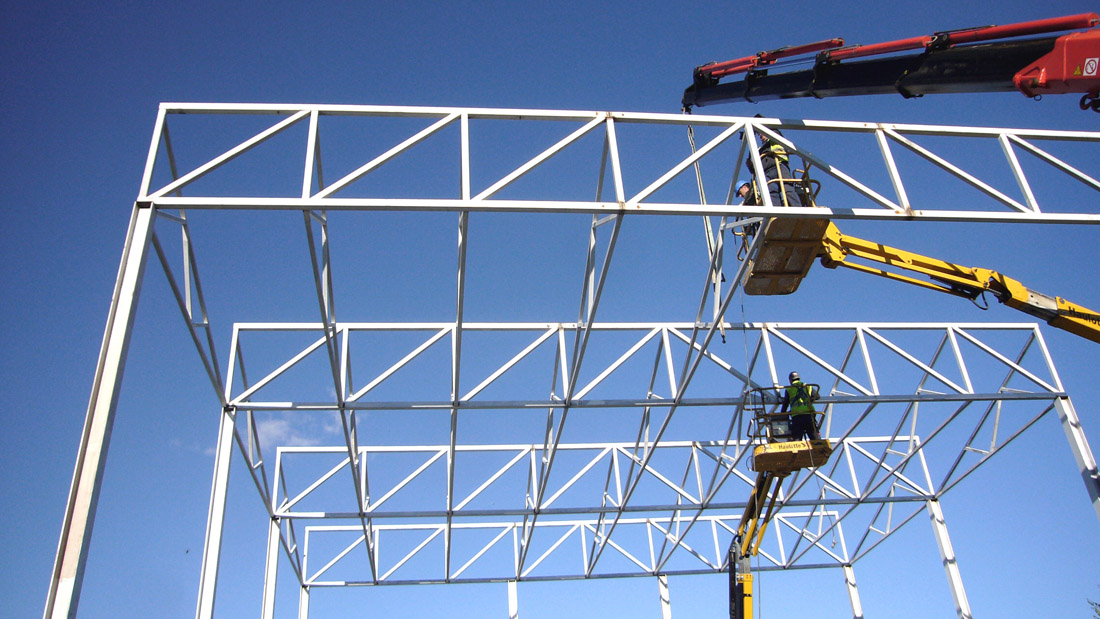 Puertaverde nave para el tratamiento de residuos industriales - Cerchas metalicas para cubiertas ...