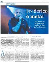 Jornal registra noite em que Frederico Westphalen respirou Heavy Metal!