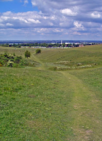 On the left, Sundon village and church, just one of the many quaint hamlets and villages on this section. On the right, Therfield Heath leading into Royston.