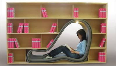 ... This is not for those of you that are claustrophobic. This might be for  those of you who miss that feeling of being in a womb. This nifty bookcase  ...