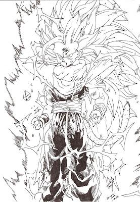 Desenhos - Sangohan super saiyan 3 ...