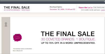 finalsale+RUELALA Final Year End Sales Round Up: Closing out 2008