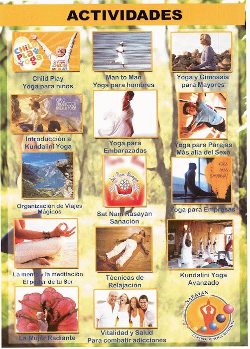 Centro de Yoga Narayan: Actividades