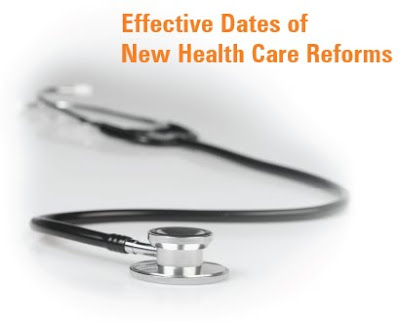 Health Care reform, dates, changes,