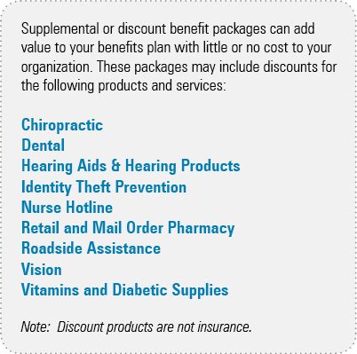 supplemental, benefits, discounts, package
