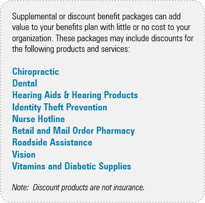 supplemental, benefits, discounts, package