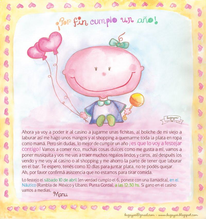 Bagayos - Feliz cumpleanos bebe 1 ano ...