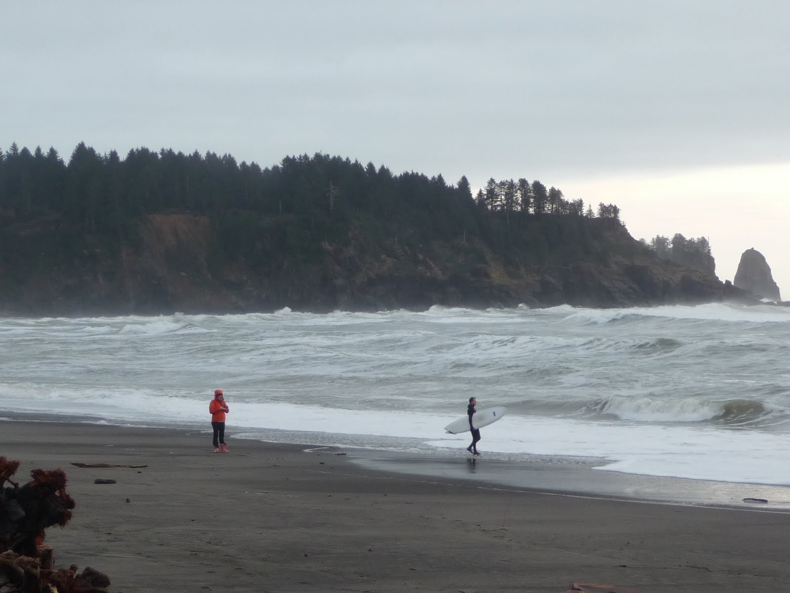 Seniors walking across america day 10 fday 10 forks yes la push surf is high enough for surfingbut man is it cold nvjuhfo Gallery