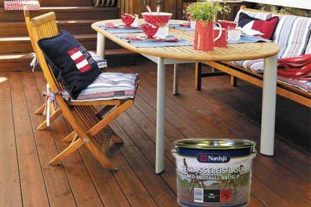 Maleriet fargehandel: tid for terrasse.