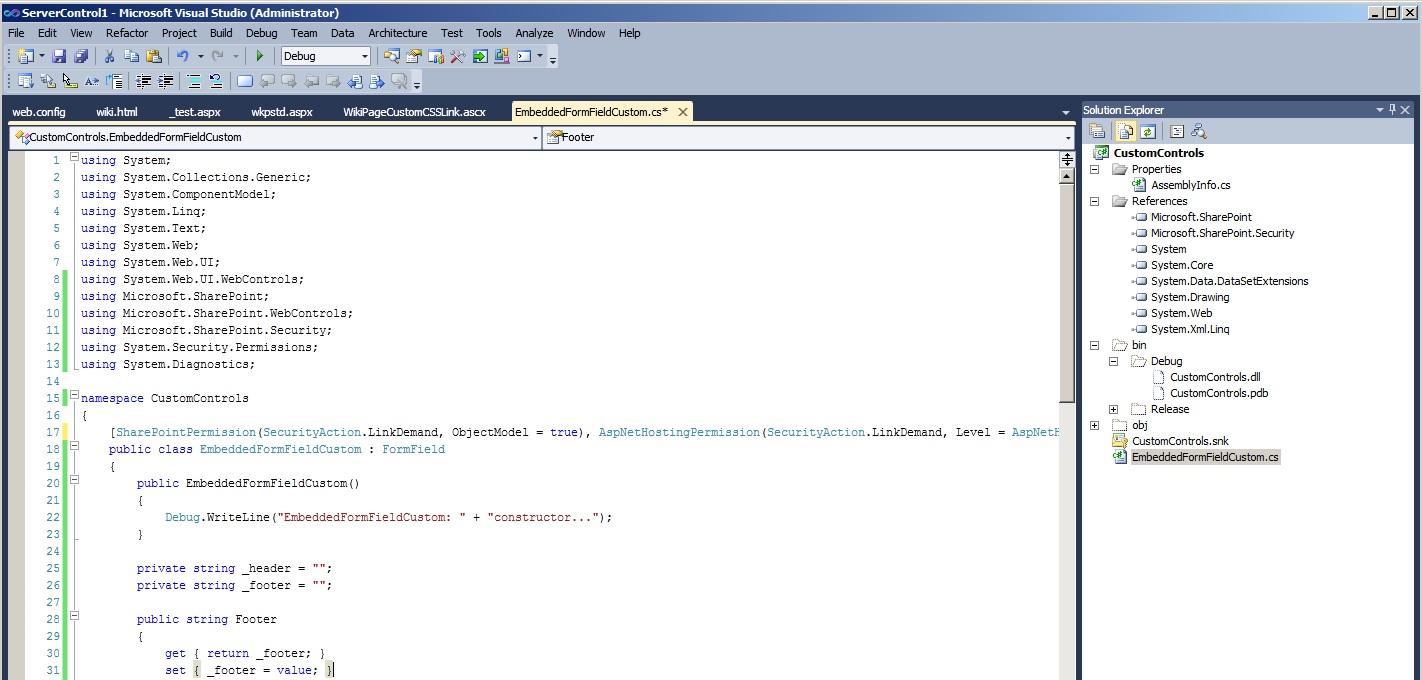 SharePoint & Co: Adding a custom control to the SharePoint 2010 Team ...