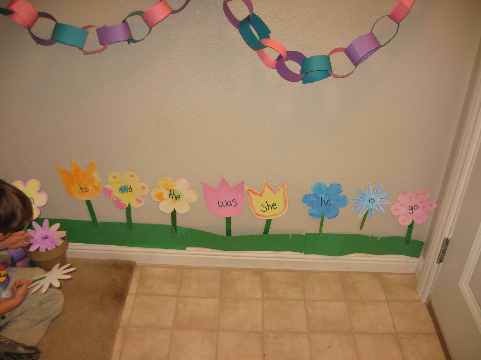 Giving Up On A Clean House: Sight Word Garden