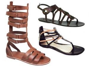 modelo de sandalia gladiadora