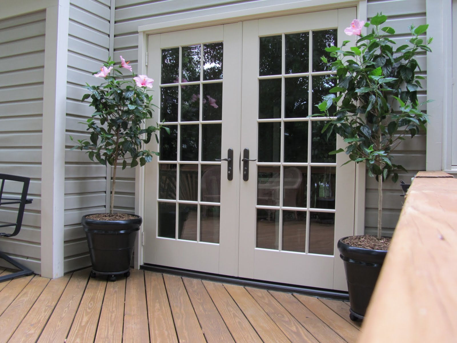 Black French Doors. Black Exterior Cladding On These Patio Doors ...