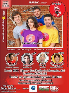 Louco é Pouco em cartaz toda Quarta-feira de Agosto no SESC Tijuca!