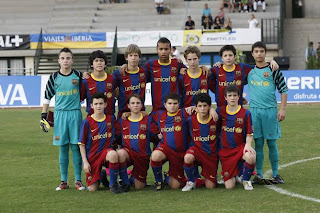 FC Barcelona alevines Spanish Soccer