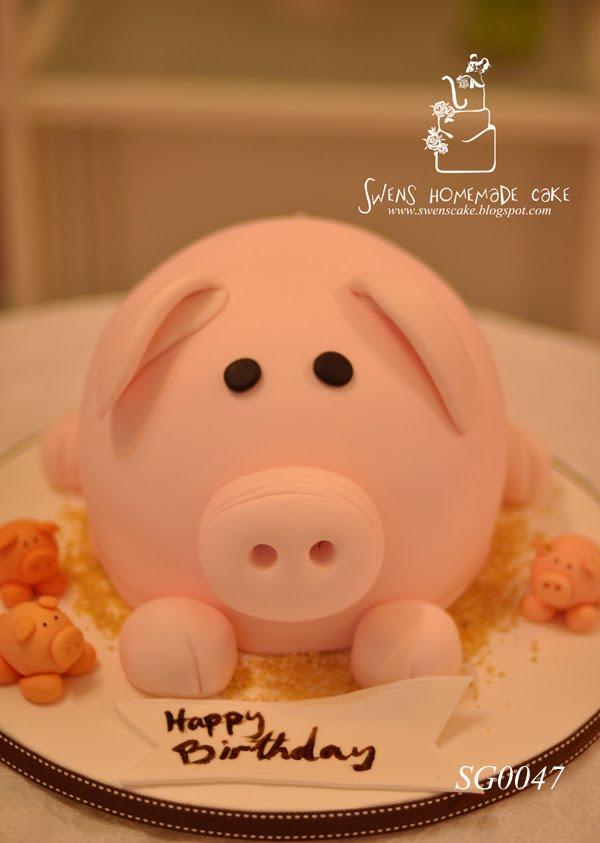 Sugarpaste Decorating Sg0047 Cute Pig Cake
