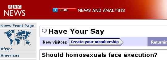 [BBCAsksIfGaysShouldBeExecuted]