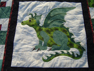 Chinese Dragon Free Quilt Pattern by Four Twin Sisters