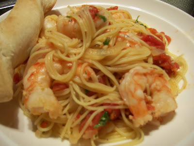 Kellie S Kitchen Shrimp Fra Diavolo With Angel Hair Pasta