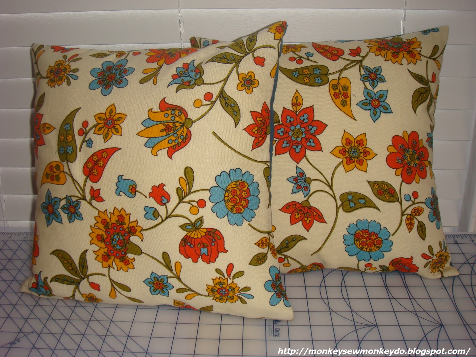 Easy To Make Throw Pillow Covers : Monkey Sew, Monkey Do: Quick and Easy Removable Pillow Covers