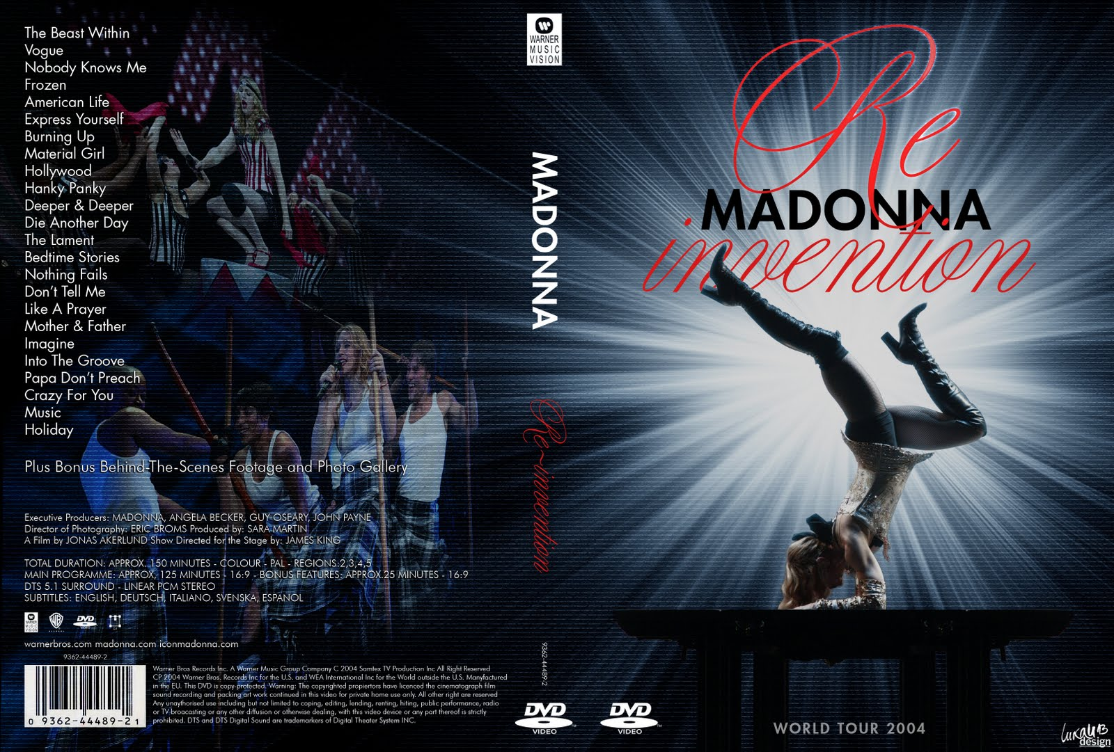 dvd madonna re invention tour