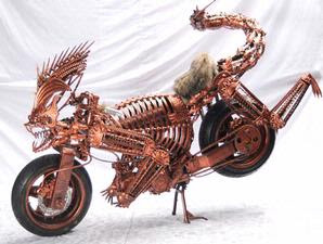Alien Style Motorcycle Modification in Bali