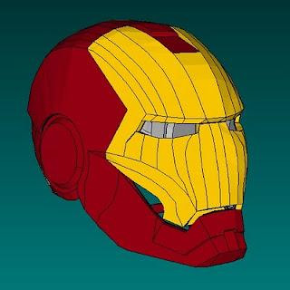 Iron Man Helmet Paper Model